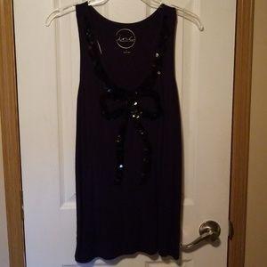 INC sleeveless embellished top
